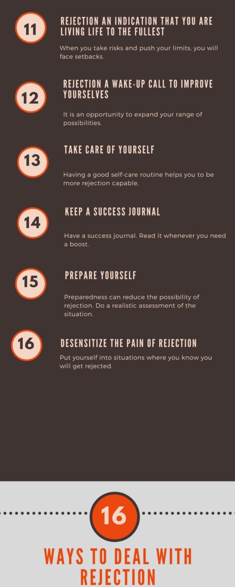 16 ways to deal with rejection