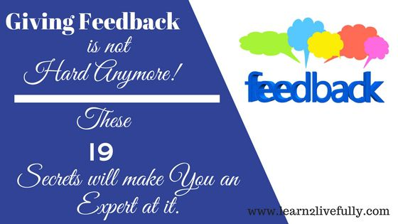 giving feedback